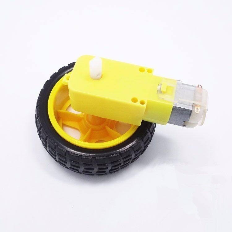 arduino roda pneu motor dc 3 a 6v com redu o rob tica carro r 19 90 em mercado livre. Black Bedroom Furniture Sets. Home Design Ideas