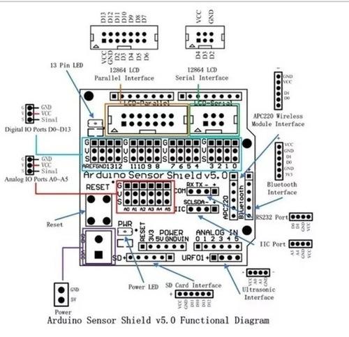 arduino sensor shield v5.0 - pronta entrega