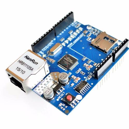 arduino shield ethernet w5100 con lector de sd