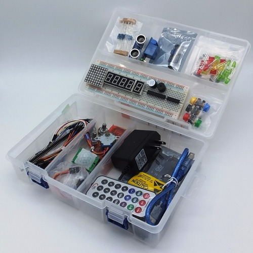 arduino starter kit uno o mega básico + libros +envio!
