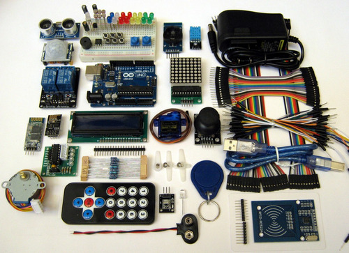 arduino uno kit completo ds3231 rfid relé2 bluetooth wifi