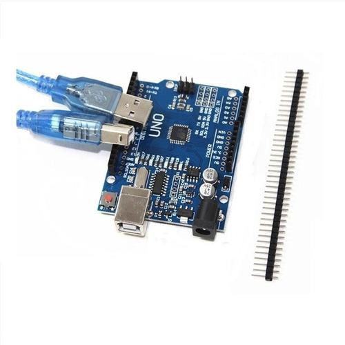arduino uno r3 atmel 328p c/ cabo usb + barra de pinos
