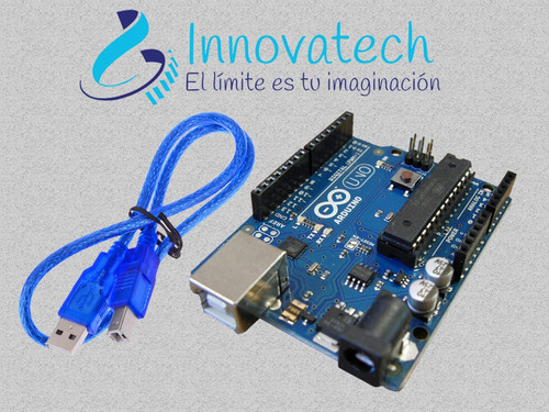 arduino uno r3 chip atmega original desmontable+cable usb