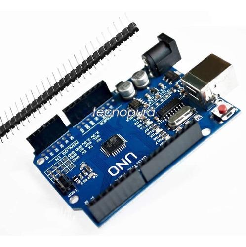 arduino uno r3 mega328p ch340g compatible + cable usb pines