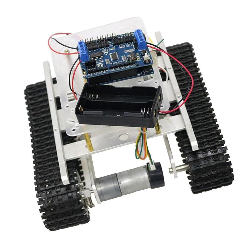 Arduino + Wifi Robot De Control Kits De Chasis De Tanque In
