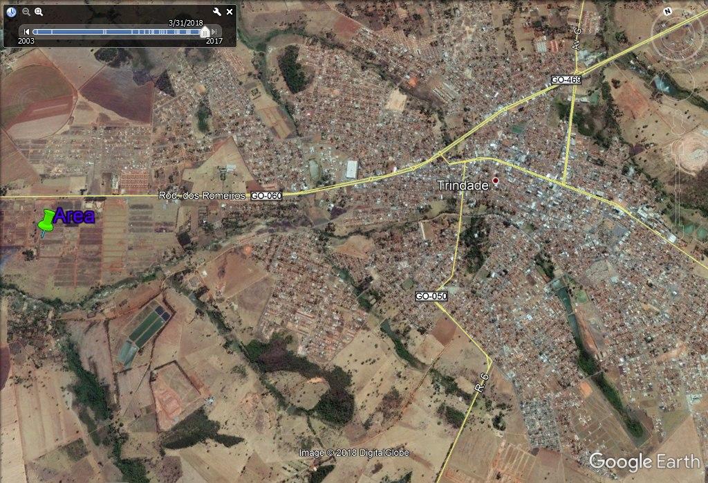 area 1.000m2 (20x50) rodovia dos romeiros