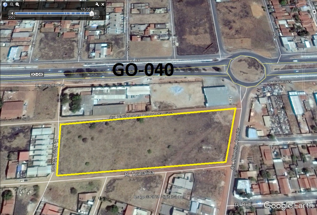 area 15.203m² (36 lotes, asfalto e agua) setor dos bandeiran