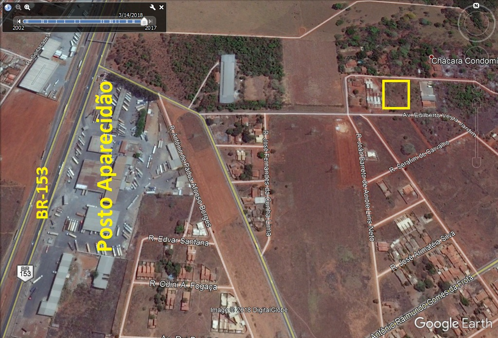 area 3.550m² (asfalto) condomínio sonho verde