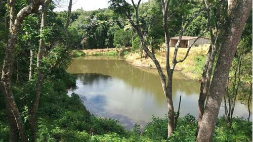 area de 1000 m2 livres e com lago para pesca portaria s taxa