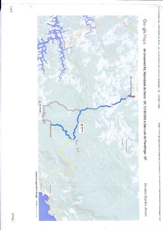 área de compensação ambiental dentro da serra do mar