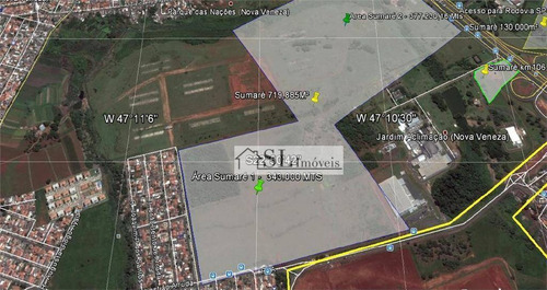 área  industrial à venda, jardim aclimação (nova veneza), sumaré. - ar0014