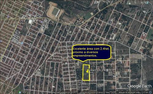 área para empreendedores com 2,4hec excelente localização