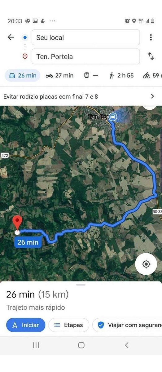 área rural 6 ha.