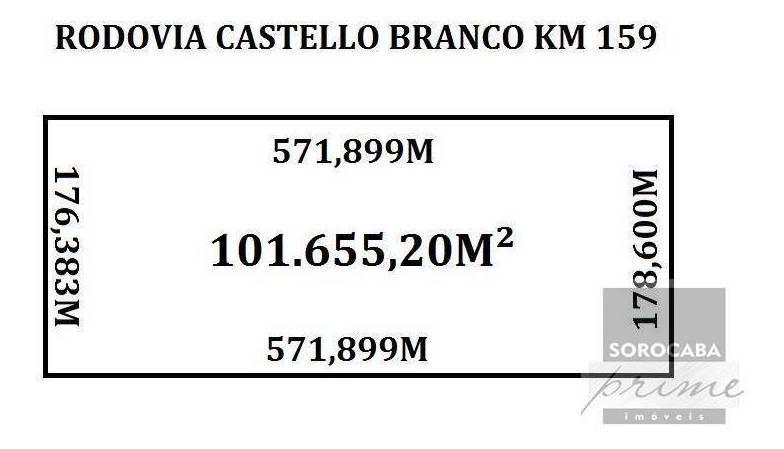 área à venda, 101.665 m² por r$ 2.800.000 - nova tatuí - tatuí/sp - ar0003