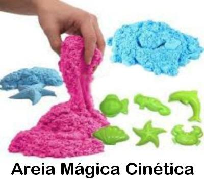 aff3f07b64 Areia Cinética Balde 300gr+formas Pronta Entrega Brinquedo - R  25 ...
