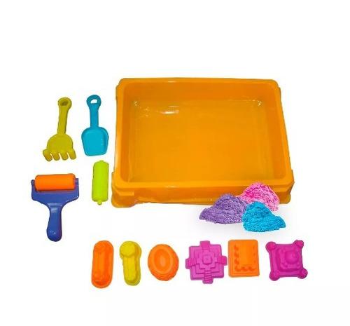 areia cinética brinquedo infantil castelo 900g + acessórios