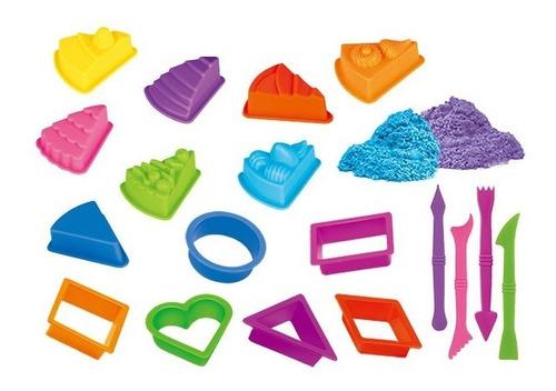 areia de modelar 2 areias divertida 12 moldes 1 rolo bolos