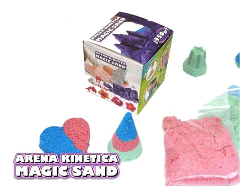 arena kinetica magic sand 900 grs!!! incluye kit didactico