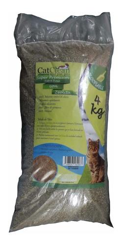 arena para gatos catclean super premium 4kg con zeolita