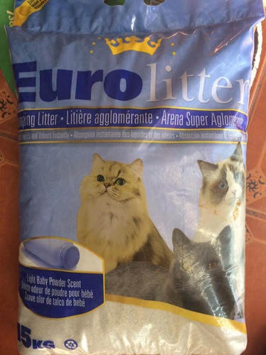 arena sanitaria gatos  euro litter 15kg canada