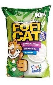 arena sanitaria para gato fofi cat 10 kg