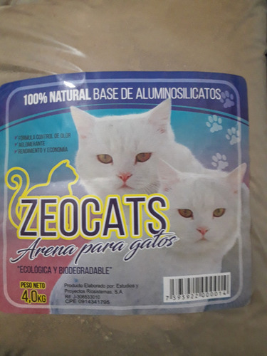 arena sanitaria perfumada para gatos 4 klg