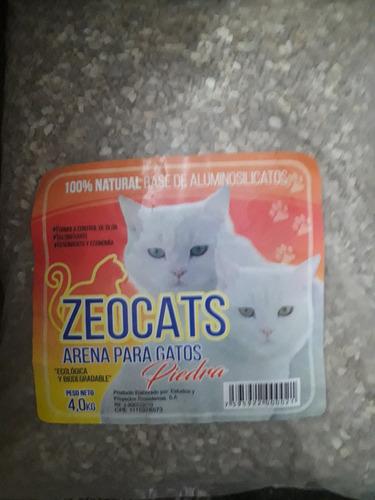 arena sanitaria piedra para gatos 4 klg