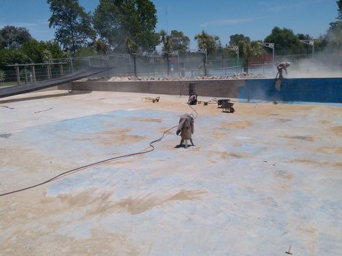 arenado barcos ,piletas,tejas a domicilio arenado humedo