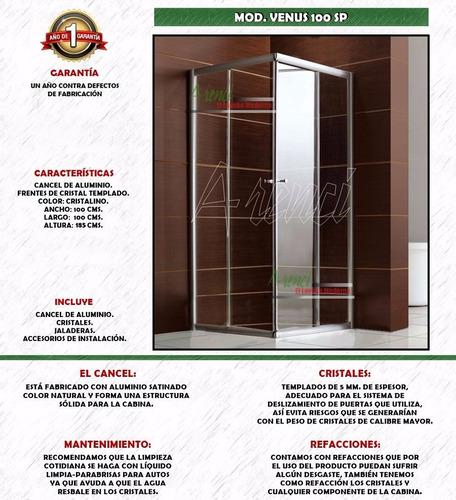 arenci-ducha baño regadera cancel 100x100 mod. venus 100 sp