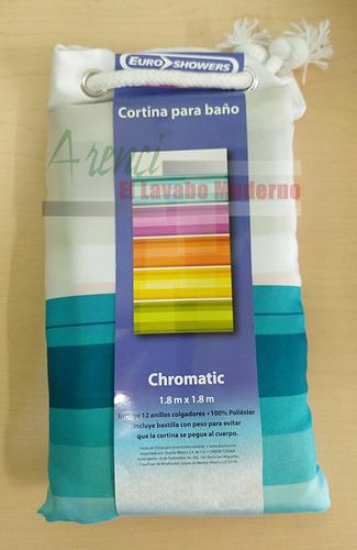 arenci-ducha cortina baño polyester 180x180 mod. chromatic
