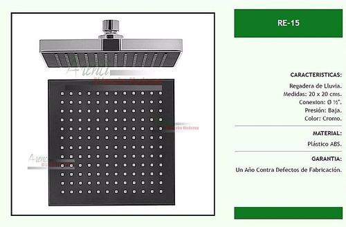 arenci-ducha regadera baño anti-sarro 20 cms. re-15 cromo