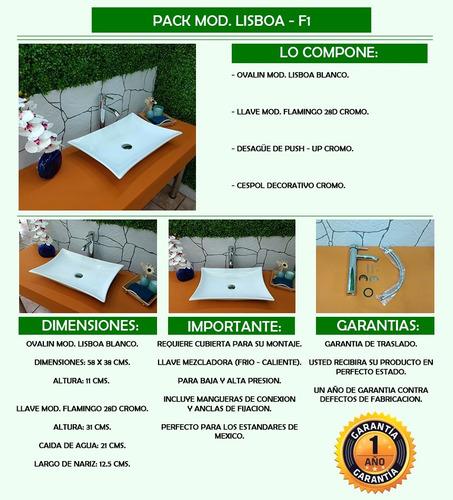 arenci-pack lavabo ¡ envío !  mod. lisboa - f1 cromo