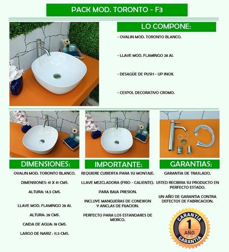 arenci-pack lavabo ¡ envío !  mod. toronto - f3 inox