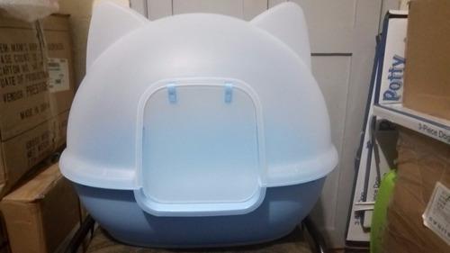 arenera cubierta para gato con puerta y pala      gigante