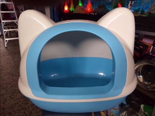 arenera cubierta para gato forma de gato y pala expectacular