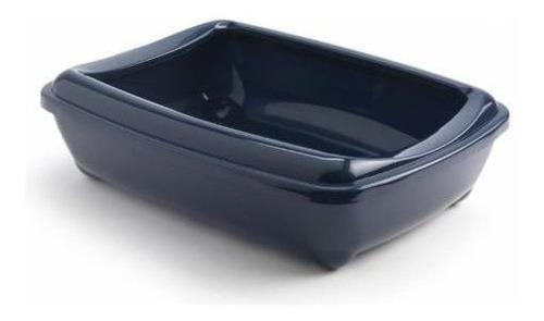 arenero con borde o baños para gatos comfy cats, 49x37x12