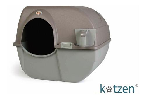 arenero cubierto semi automatico para gato omega paw