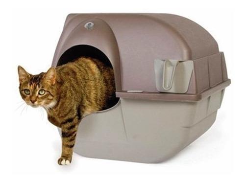 arenero grande semi-automatico con tapa gato  omega paw