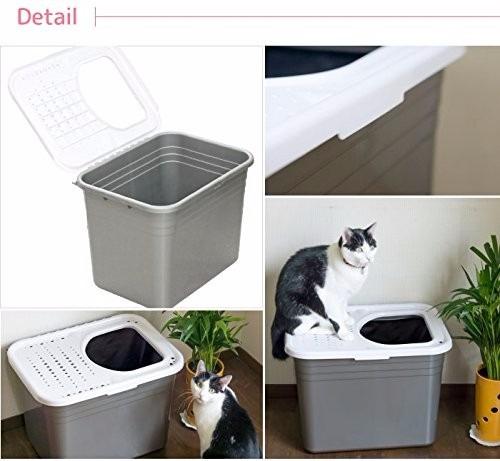 arenero o baño para gatos petmate importado