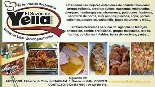 arepita dulce/cachapa/hamburguesa/choripan/servicio/estacion