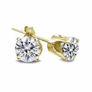 e9082434bf1f Arete Broquel De Diamante 100% Natural .20 Cts Si1 I -   3
