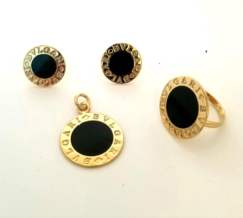 4a86ec35f9f5 arete dije anillo bvlgary en chapa de oro 18k super precio. Cargando zoom.