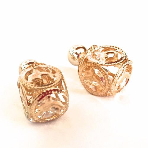arete doble perla dorado mujer regalo moda look