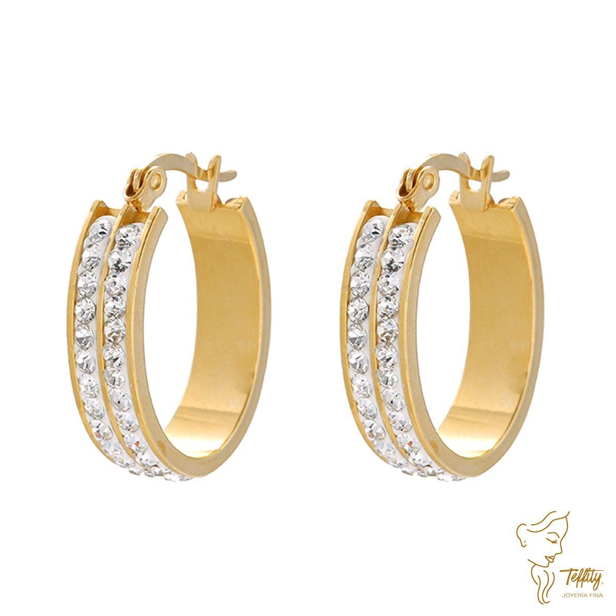 71b60650106a arete oro laminado 24k fashion piedra diamante (mayoreo). Cargando zoom.