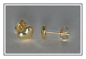 selección premium 610d4 354fd Arete Tipo Broquel En Forma De Corazón En Oro De 14 Kilates