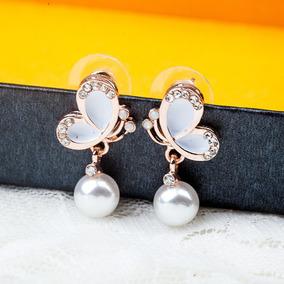 7db7ff5429fe Triángulo Ronda Cuadrado Stud Pendientes Perla Colgante Pend · Aceite  Mariposa Y Diamante Stud Pendientes Coreano Perla Pen