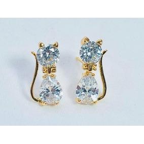 da794b33b8ca Aretes Oro Letra Diamantes - Aretes en Mercado Libre México