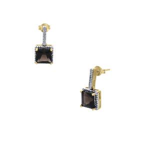 ed7e76c43fad Aretes De Oro Amarillo 14k Con 3pts De Diamante Y-er0080376y