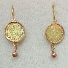 a006ae852ace Preciosos Aretes Moneda Maximiliano. Oro S Lido De 14k - Joyería en ...