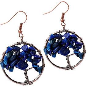 5b52a4efb274 Sunyik Lapis Lazuli Árbol De La Vida Cuelga Los Pendientes